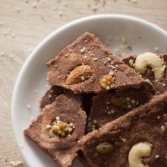 Rohe, süsse Schokolade ohne Zucker